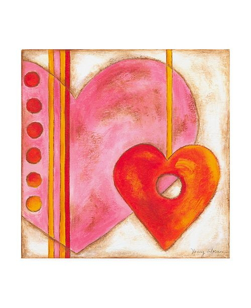 "Trademark Global Nancy Slocum Pop Hearts III Childrens Art Canvas Art - 19.5"" x 26"""