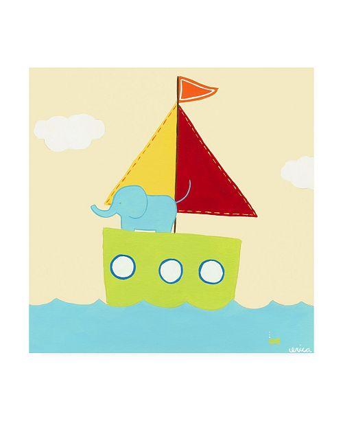 "Trademark Global June Erica Vess Sailboat Adventure IV Canvas Art - 15.5"" x 21"""