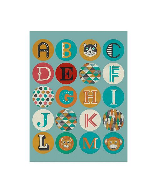 "Trademark Global Chariklia Zarris Luciens Alphabet I Canvas Art - 27"" x 33.5"""