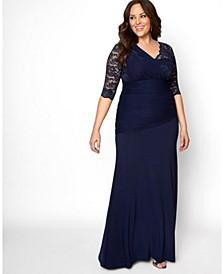 Women's Plus Size Soiree Evening Gown