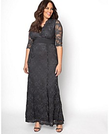 Women's Plus Size Screen Siren Lace Gown