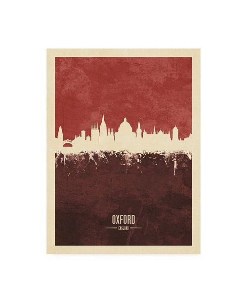 "Trademark Global Michael Tompsett Oxford England Skyline Red II Canvas Art - 36.5"" x 48"""