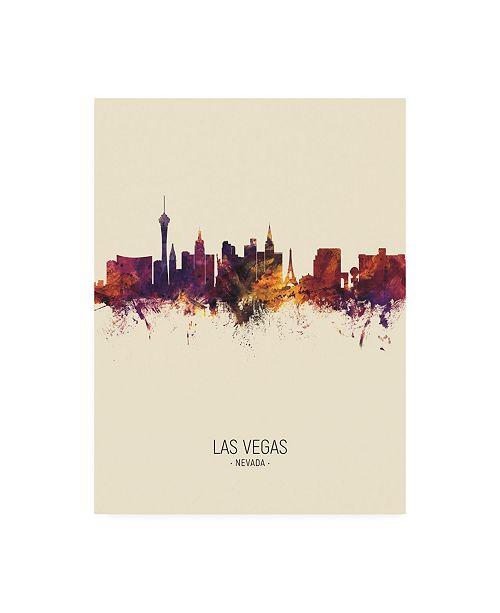"Trademark Global Michael Tompsett Las Vegas Nevada Skyline Portrait III Canvas Art - 36.5"" x 48"""