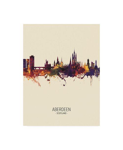 "Trademark Global Michael Tompsett Aberdeen Scotland Skyline Portrait III Canvas Art - 19.5"" x 26"""