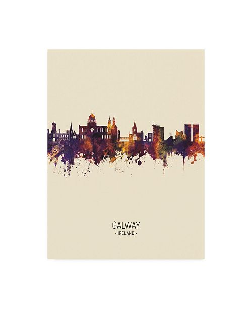 "Trademark Global Michael Tompsett Galway Ireland Skyline Portrait III Canvas Art - 27"" x 33.5"""
