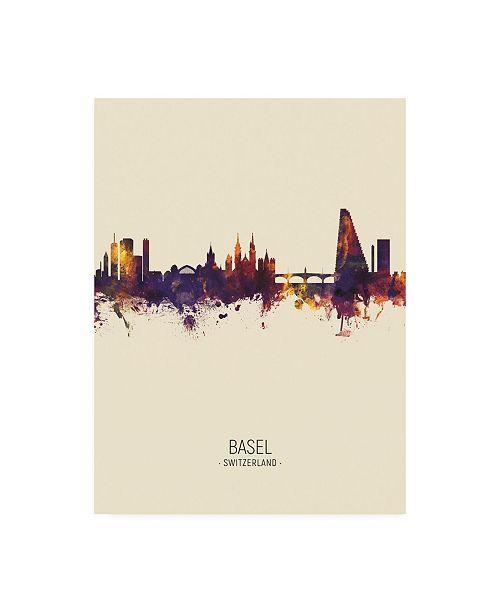 "Trademark Global Michael Tompsett Basel Switzerland Skyline Portrait III Canvas Art - 27"" x 33.5"""
