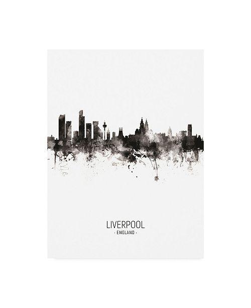 "Trademark Global Michael Tompsett Liverpool England Skyline Portrait II Canvas Art - 27"" x 33.5"""