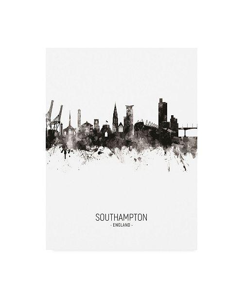 "Trademark Global Michael Tompsett Southampton England Skyline Portrait II Canvas Art - 36.5"" x 48"""