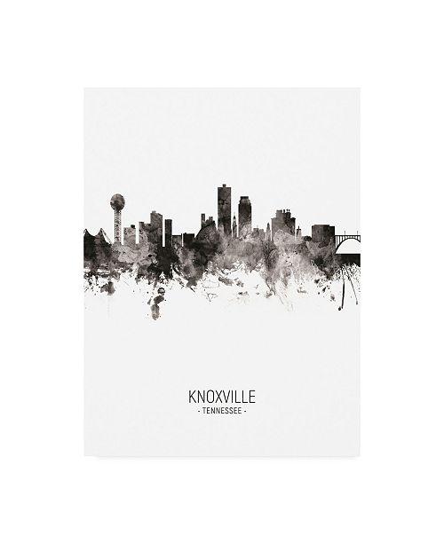 "Trademark Global Michael Tompsett Knoxville Tennessee Skyline Portrait II Canvas Art - 19.5"" x 26"""