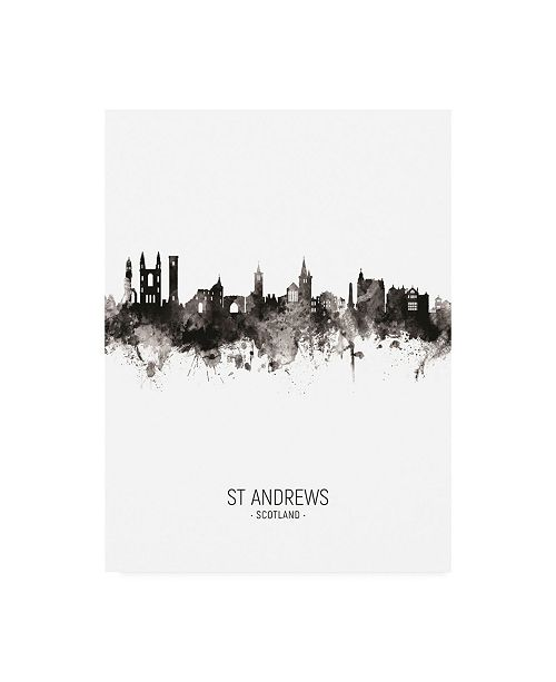"Trademark Global Michael Tompsett St Andrews Scotland Skyline Portrait II Canvas Art - 19.5"" x 26"""