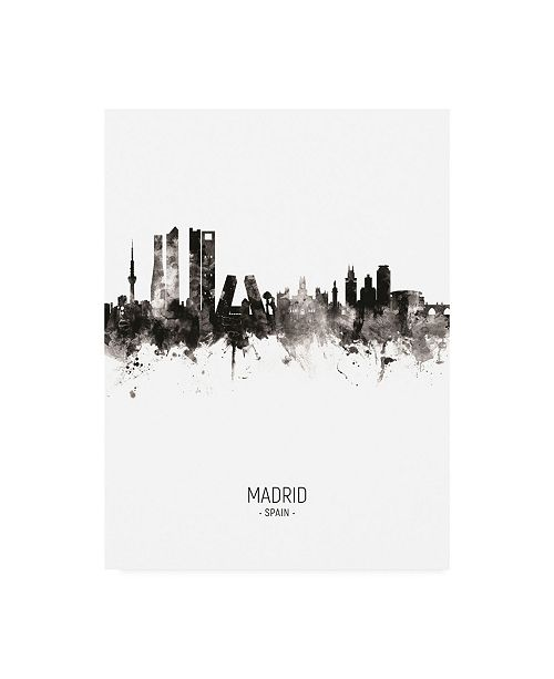 "Trademark Global Michael Tompsett Madrid Spain Skyline Portrait II Canvas Art - 27"" x 33.5"""