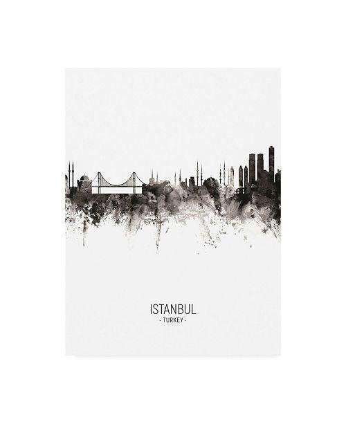 "Trademark Global Michael Tompsett Istanbul Turkey Skyline Portrait II Canvas Art - 36.5"" x 48"""