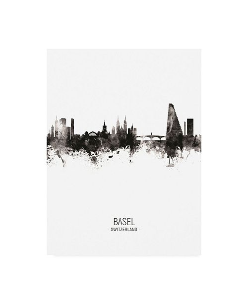 "Trademark Global Michael Tompsett Basel Switzerland Skyline Portrait II Canvas Art - 15.5"" x 21"""