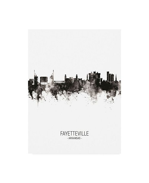 "Trademark Global Michael Tompsett Fayetteville Arkansas Skyline Portrait II Canvas Art - 36.5"" x 48"""