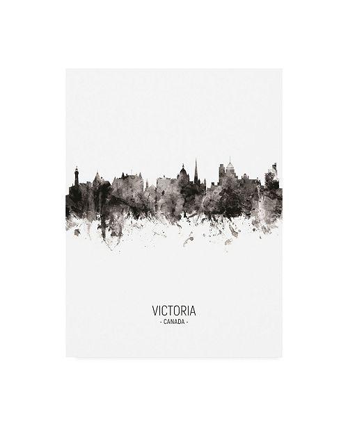 "Trademark Global Michael Tompsett Victoria Canada Skyline Portrait II Canvas Art - 27"" x 33.5"""