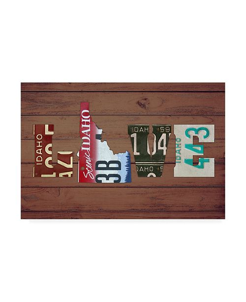 "Trademark Global Design Turnpike ID State Love Canvas Art - 15.5"" x 21"""