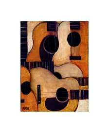 "Daniel Patrick Kessler Guitars Collage Canvas Art - 27"" x 33.5"""