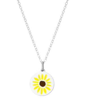 Mini Sunflower Pendant Necklace in Sterling Silver