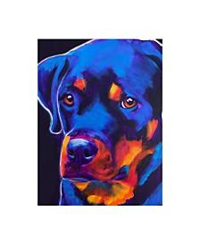 "DawgArt Rottie Dexter Canvas Art - 36.5"" x 48"""