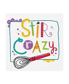 "Holli Conger Stir Crazy Egg Whisk Canvas Art - 15.5"" x 21"""