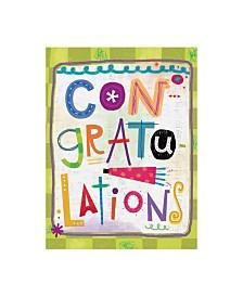 "Holli Conger Sprouted Wisdom Congrats Canvas Art - 36.5"" x 48"""