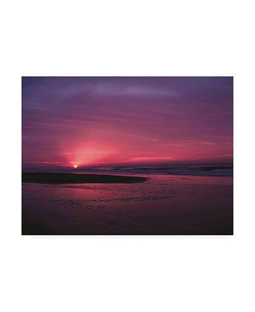 "Trademark Global Kurt Shaffer Photographs Sunrise at Sunset Beach Canvas Art - 36.5"" x 48"""