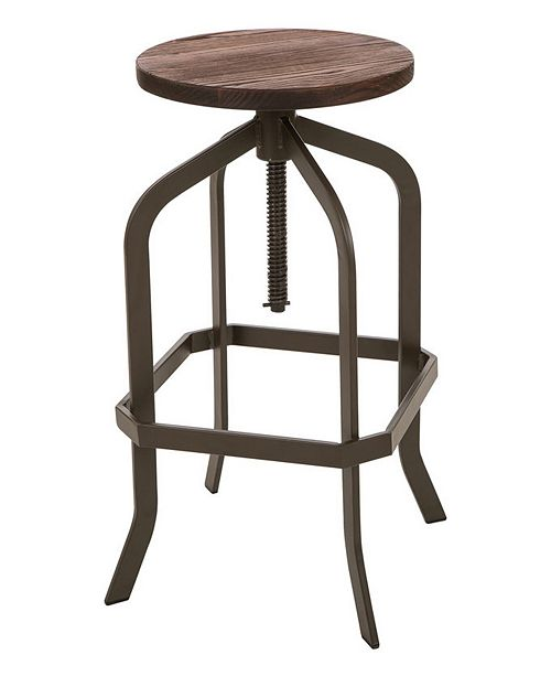 Amazing Metal Revolving Stool With Solid Wood Seat Short Links Chair Design For Home Short Linksinfo