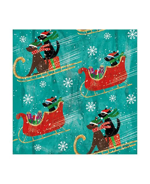 "Trademark Global Veronique Charron Merry Making Pattern IIB Canvas Art - 19.5"" x 26"""