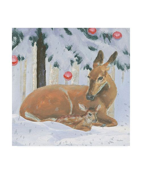 "Trademark Global Emily Adams Christmas Critters Bright VIII Canvas Art - 36.5"" x 48"""