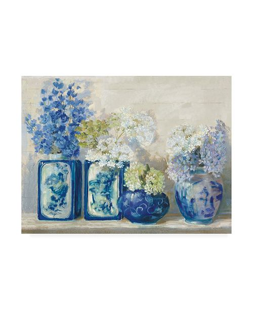 "Trademark Global Carol Rowan Ladys Mantle on Shiplap Canvas Art - 15.5"" x 21"""