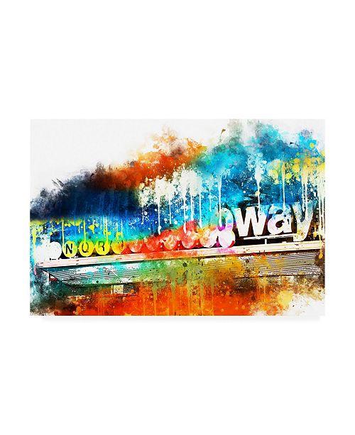 "Trademark Global Philippe Hugonnard NYC Watercolor Collection - Manhattan Subway Canvas Art - 36.5"" x 48"""