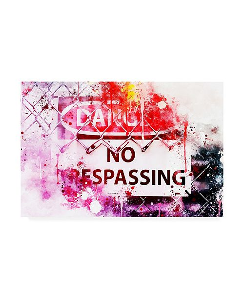 "Trademark Global Philippe Hugonnard NYC Watercolor Collection - Danger Canvas Art - 19.5"" x 26"""