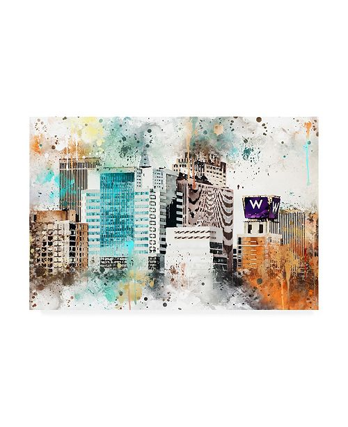 "Trademark Global Philippe Hugonnard NYC Watercolor Collection - W Sign Canvas Art - 27"" x 33.5"""