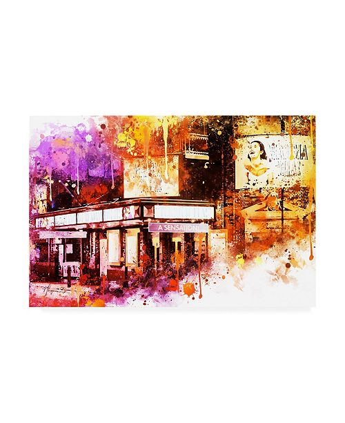 "Trademark Global Philippe Hugonnard NYC Watercolor Collection - Sensation Canvas Art - 15.5"" x 21"""