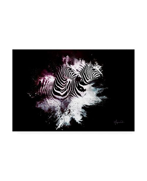 "Trademark Global Philippe Hugonnard Wild Explosion Collection - the Zebras Canvas Art - 15.5"" x 21"""