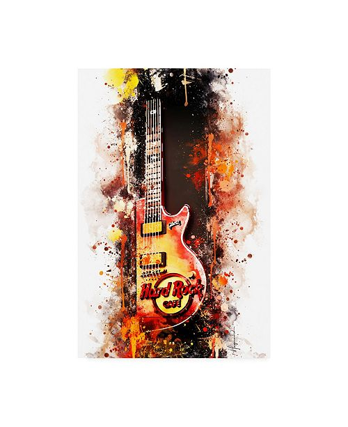 "Trademark Global Philippe Hugonnard NYC Watercolor Collection - Hard Rock Cafe Canvas Art - 36.5"" x 48"""