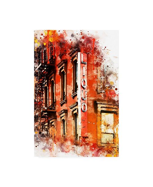 """Trademark Global Philippe Hugonnard NYC Watercolor Collection - Liquors Canvas Art - 27"""" x 33.5"""""""