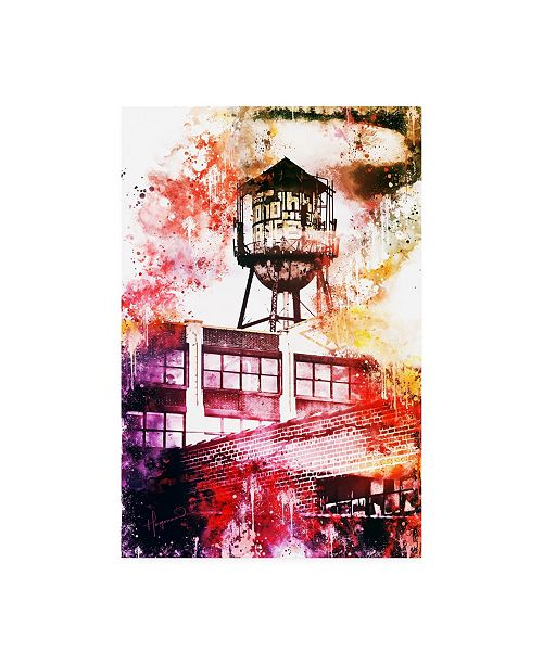 "Trademark Global Philippe Hugonnard NYC Watercolor Collection - Brooklyn Industry Canvas Art - 19.5"" x 26"""