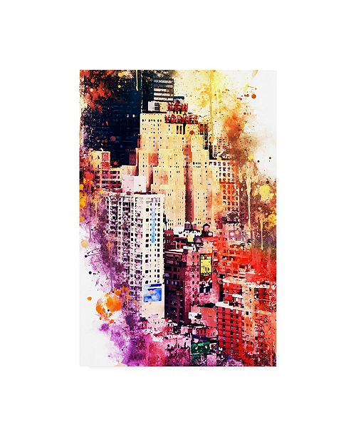 """Trademark Global Philippe Hugonnard NYC Watercolor Collection - District Canvas Art - 36.5"""" x 48"""""""