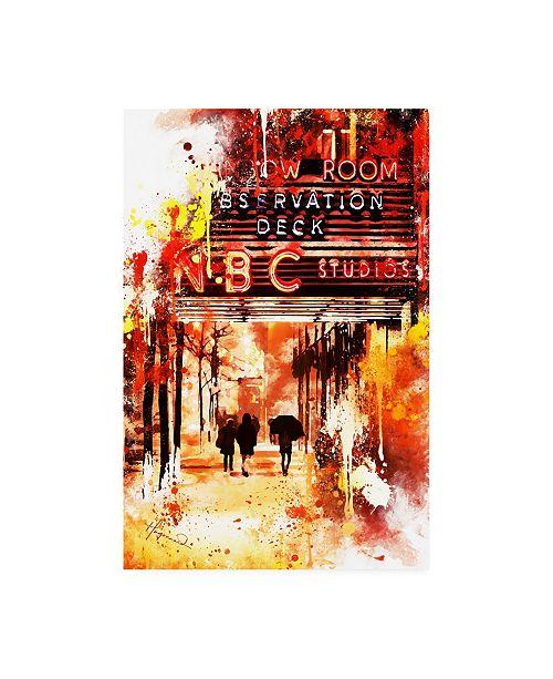 "Trademark Global Philippe Hugonnard NYC Watercolor Collection - NBC Studios II Canvas Art - 36.5"" x 48"""