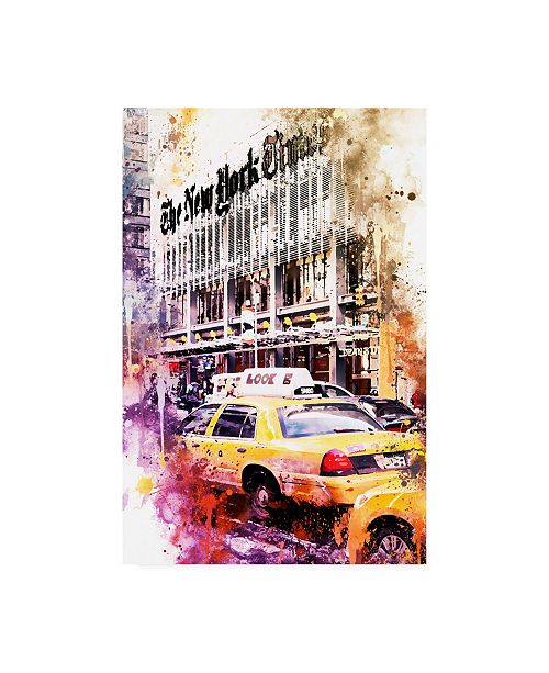 "Trademark Global Philippe Hugonnard NYC Watercolor Collection - Look Canvas Art - 19.5"" x 26"""