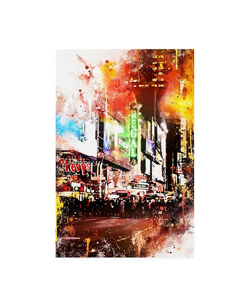"""Trademark Global Philippe Hugonnard NYC Watercolor Collection - Pedestrian Pathway Canvas Art - 36.5"""" x 48"""""""
