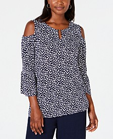 Cold-Shoulder Keyhole-Neck Top, Created for Macy's