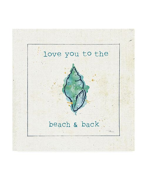 "Trademark Global Pela Studio Sea Treasures VI - Love you to the Beach and Back Canvas Art - 36.5"" x 48"""