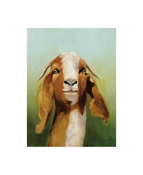 "Trademark Global Julia Purinton Got Your Goat Canvas Art - 36.5"" x 48"""