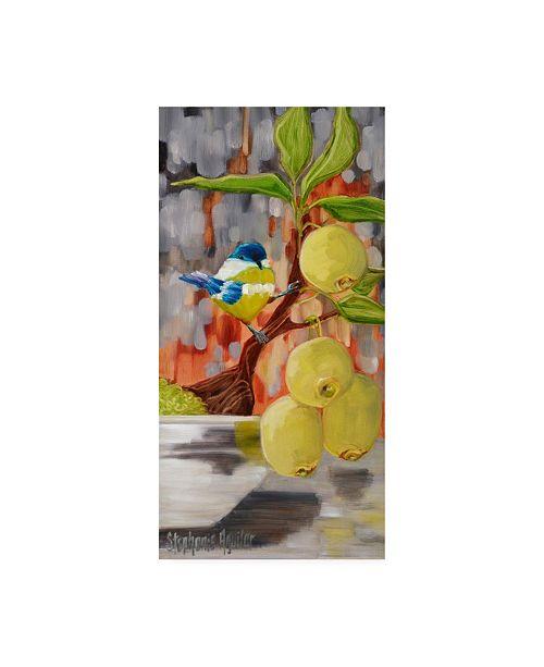 "Trademark Global Stephanie Aguila Chickadee with Bonsai Canvas Art - 36.5"" x 48"""
