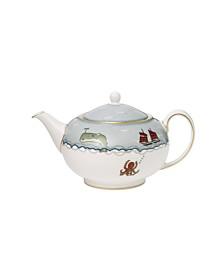 Wedgwood Sailors Farewell Teapot 37.2 oz