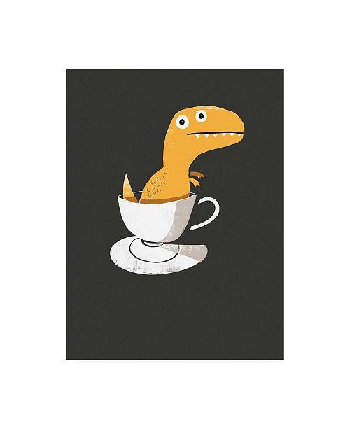 "Trademark Global Michael Buxto Tea Rex Canvas Art - 36.5"" x 48"""