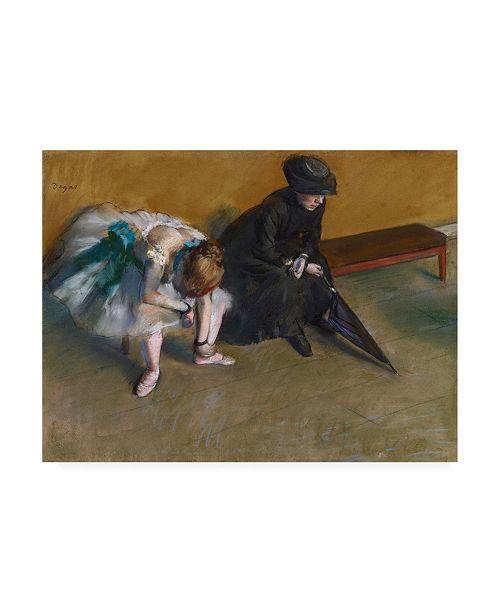 "Trademark Global Edgar Dega Waiting Dancer Canvas Art - 15.5"" x 21"""