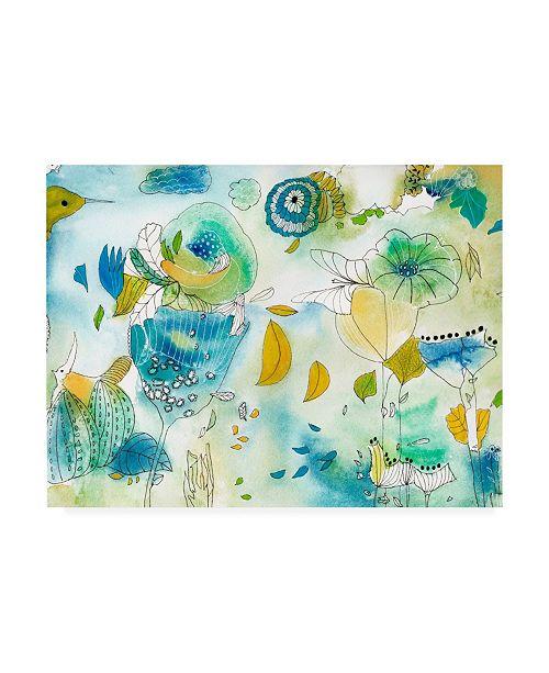 "Trademark Global Jaqui Falkenhei Of Succulents and Birds Canvas Art - 27"" x 33.5"""